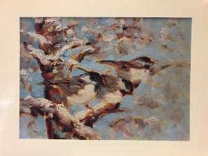 Joan Hoffmann Print - Bluebirds