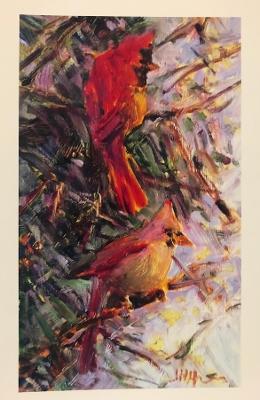 Joan Hoffmann Print - Cardinals