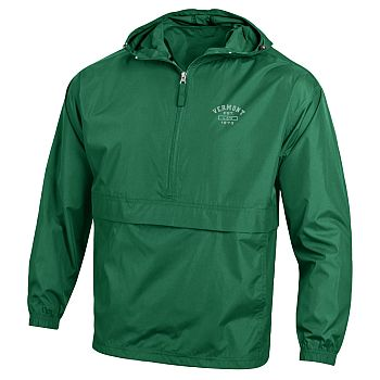 Half Zip Windbreaker Green