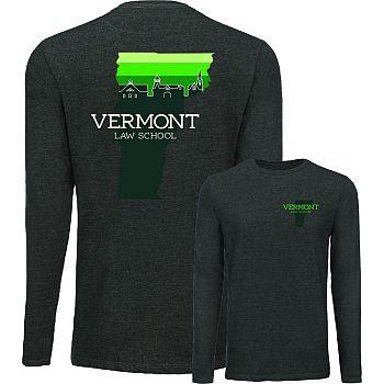 T-Shirt Skyline Long Sleeve Light Grey