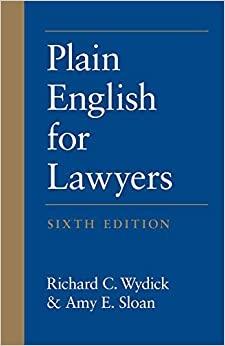 Plain English for Lawyers 6e