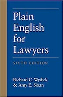 Plain English for Lawyers 6e - REQUIRED