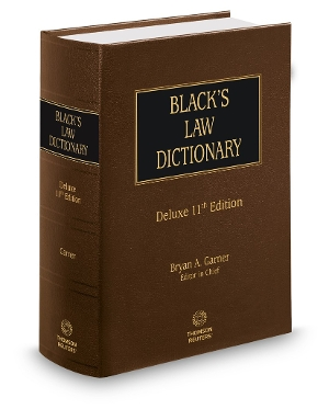 Blacks Law Dictionary 11th Edition Deluxe