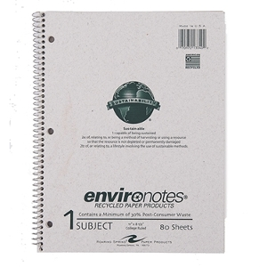 Environotes Sustainability Notebooks