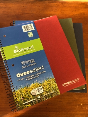 Bio-Based Notebooks