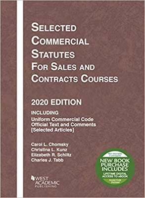 Selected Commercial Statutes for Sales, 2020