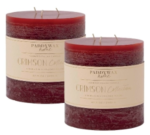 Large 3-wick Candle in Crimson