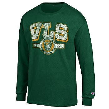 Distressed Seal Long Sleeve Green