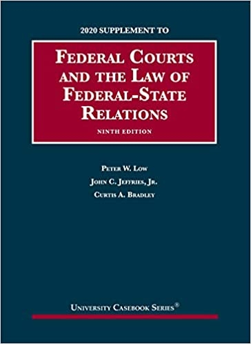 Federal Courts 2020 Supplement
