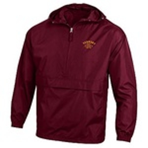 Half Zip Windbreaker Maroon