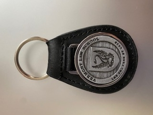 Leather Key Fob with Pewter Seal