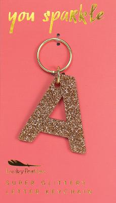 Sparkle Letter Key Chain