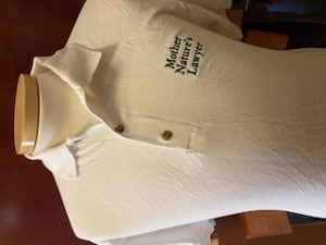 Mother Natures Lawyer Polo in White