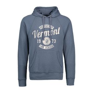 Carson Burnout Thermal Sweatshirt - Lake Blue