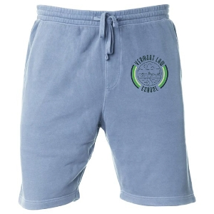 Sweatpant Short in Slate Blue